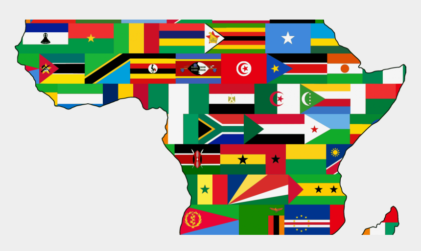 social committee clipart, Cartoons - Africa With Each Countries Flag