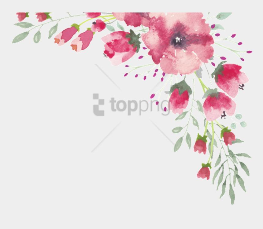 lace clipart transparent, Cartoons - Watercolor Flowers Png Border