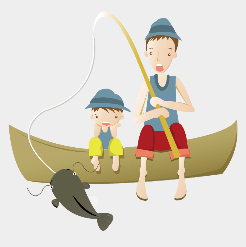 catch fish clipart, Cartoons - 爸爸 釣魚