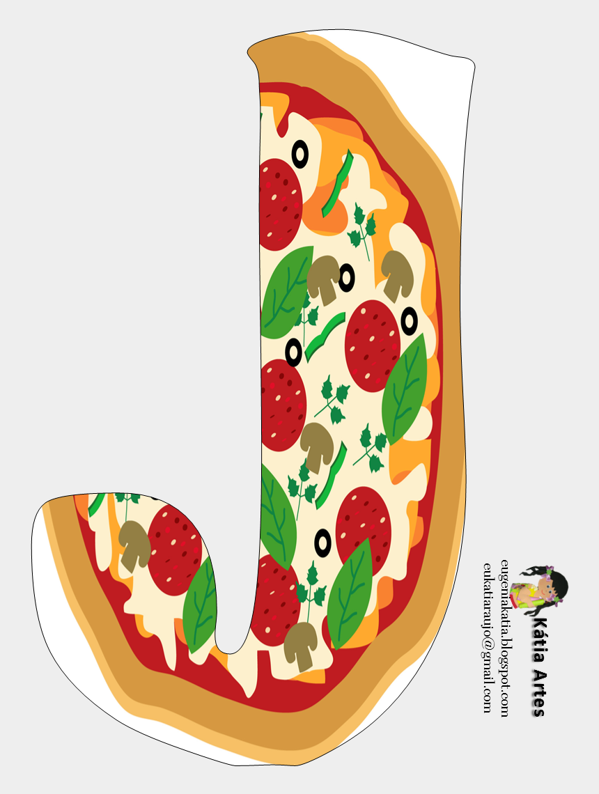 cia clipart, Cartoons - Alfabeto De Pizza