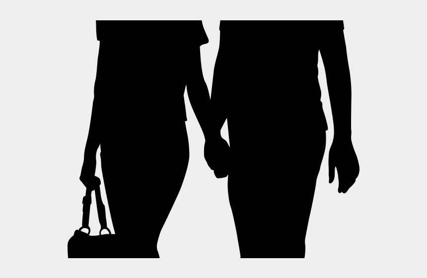 holding hands clipart, Cartoons - Unique Clipart Human Holding Hands - People Walking Silhouette Png