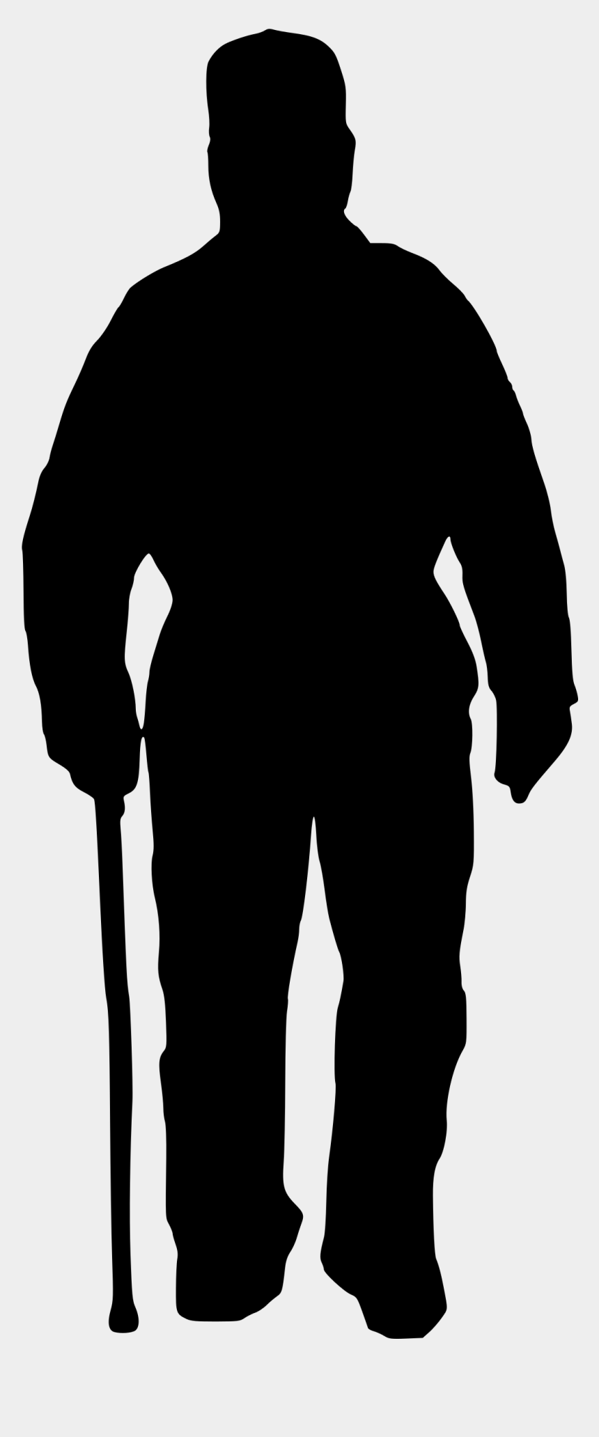 old man clipart, Cartoons - Silhouette Of Old Man - Men Black Png