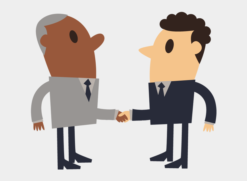 businessman clipart, Cartoons - Free Business Shake Hand Simple Cartoon Of Shaking - Shake Hands Png