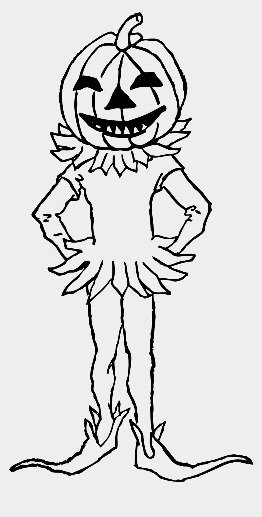 pumpkin clipart black and white, Cartoons - Pumpkin Black And White Boy With Pumpkin Clipart Black - Costumes In Halloween Clipart Black And White