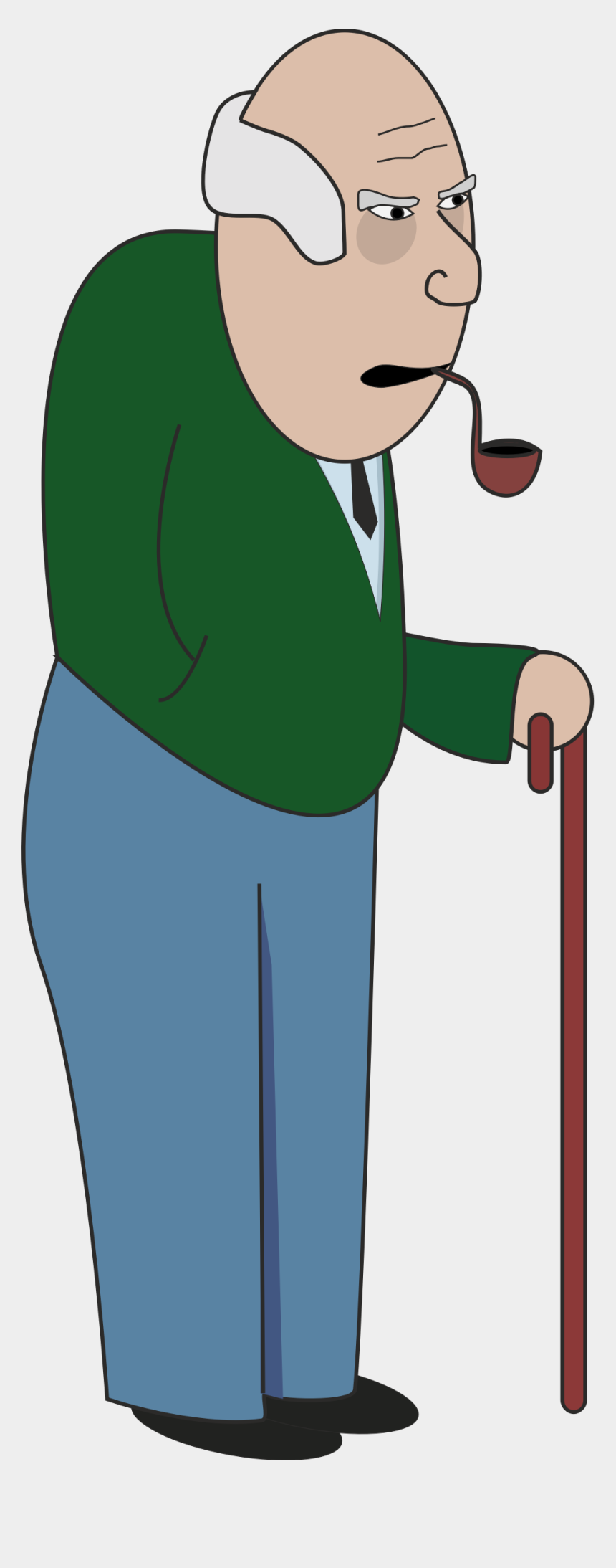 old man clipart, Cartoons - Clipart Walking Healthy Old Man - Clipart Grandpa
