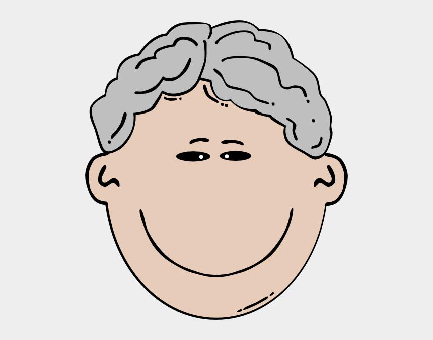 old man clipart, Cartoons - Black Hair Cartoon Man