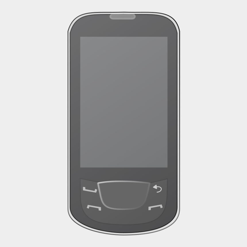 mobile phone clipart, Cartoons - Device Clipart - Feature Phone