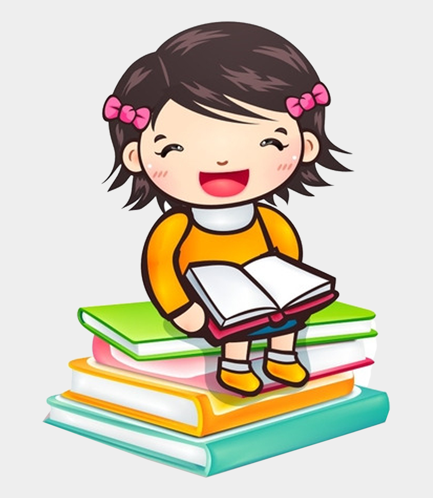 Reading Child Girl Book Clip Art Reading Clipart Png