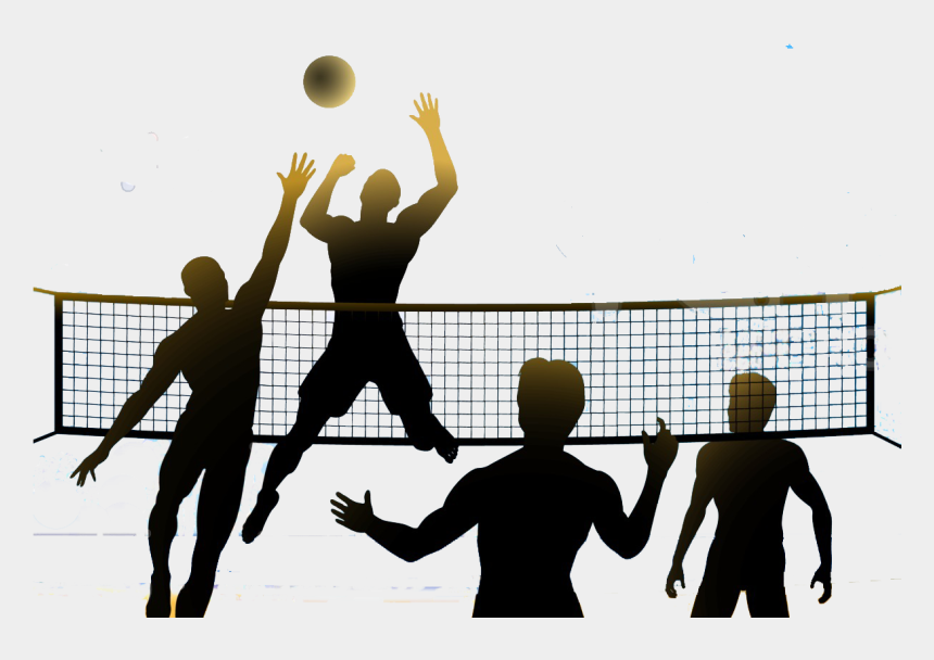 children playing clipart, Cartoons - Svg Freeuse Kids Playing Volleyball Baseball Games - Volleyball Png