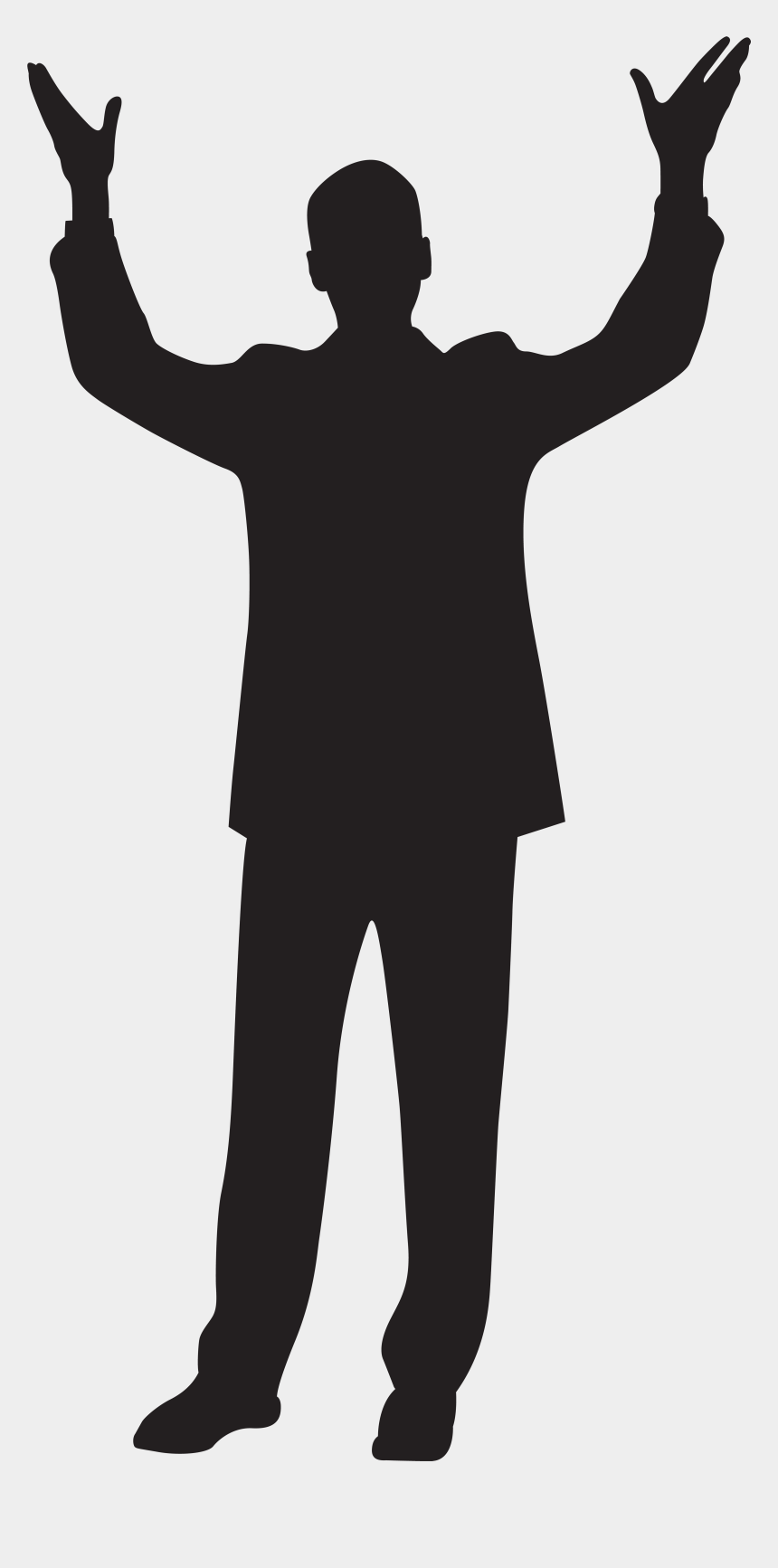 old man clipart, Cartoons - Man With Hands Up Silhouette Clip Art Imageu200b Gallery - Silhouette Of Person Hand Up