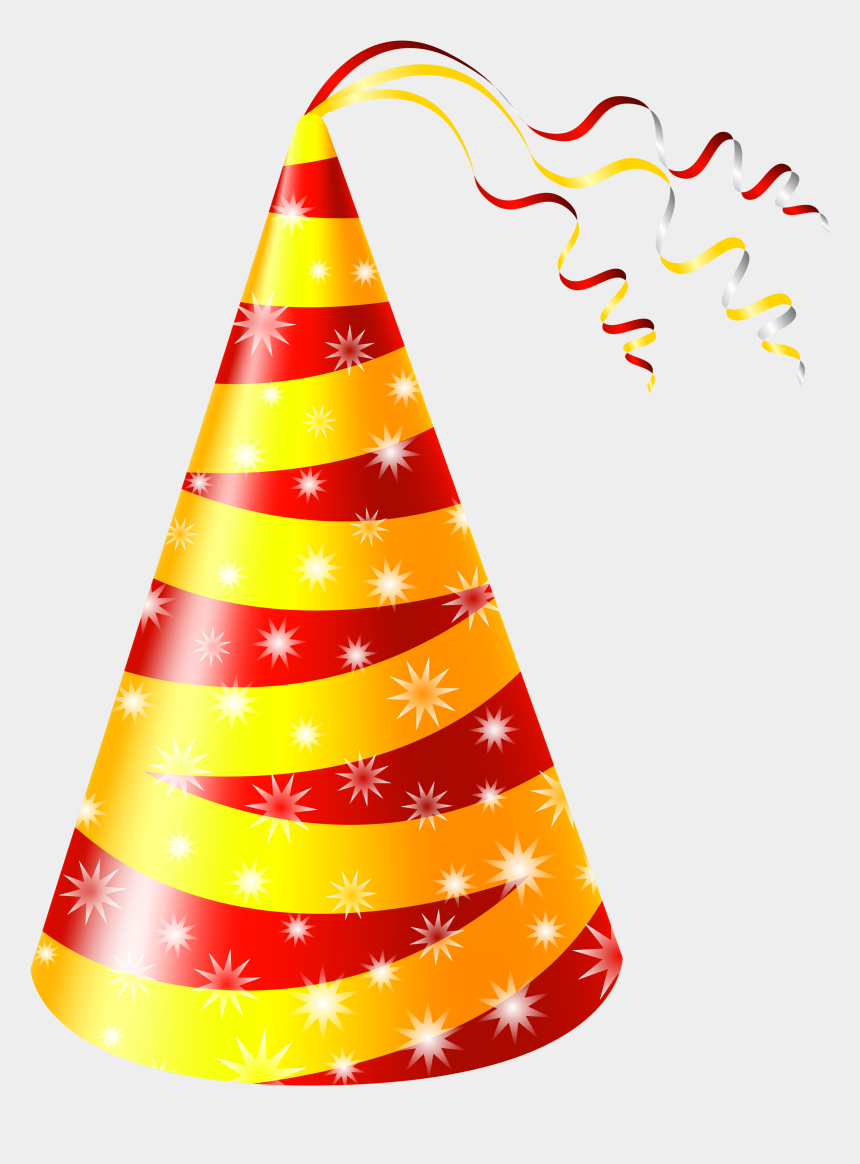 party hat clipart, Cartoons - Birthday Hat Yellow And Red Party Hat Clipart Image - Hat Birthday Party Png