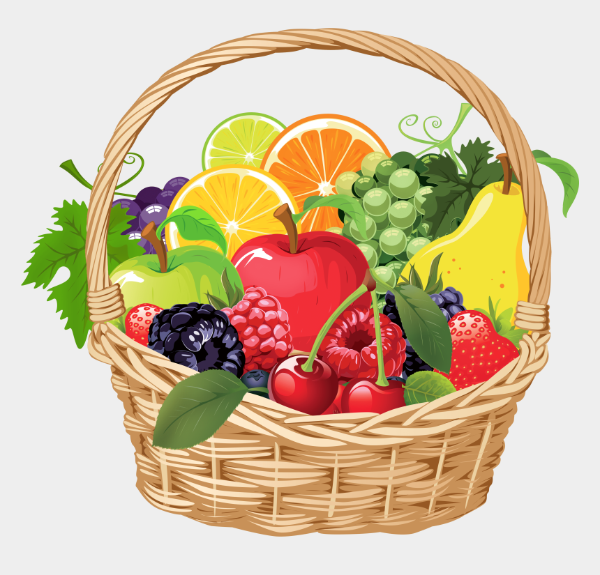 fruits and vegetables clipart, Cartoons - Fruits Amp Vegetables Clipart Basket Drawing Pencil - Fruits And Vegetables In A Basket Drawing