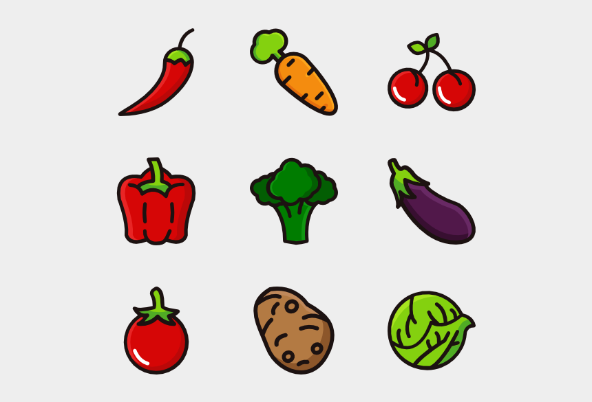 fruits and vegetables clipart, Cartoons - Vegetables Clipart Individual Fruit Vegetable - Png Vegetables