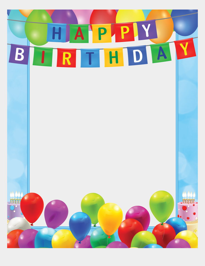 birthday party clipart, Cartoons - Discover Ideas About Birthday Party Clipart - Happy Birthday Frame Png