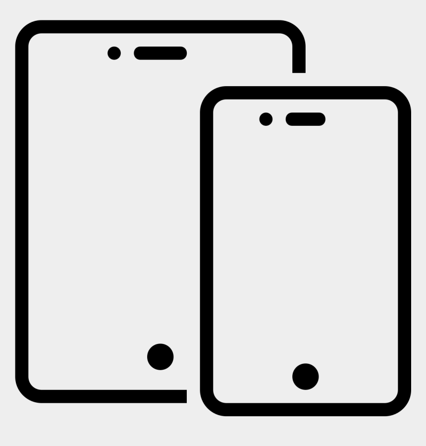 smartphone clipart, Cartoons - Screen Clipart Computer Phone - Phone And Tablet Icon Png