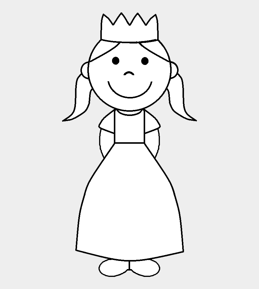 princess crown clipart, Cartoons - Black Princess Crown Clip Art Black And White Angel - Small Princess Coloring Page