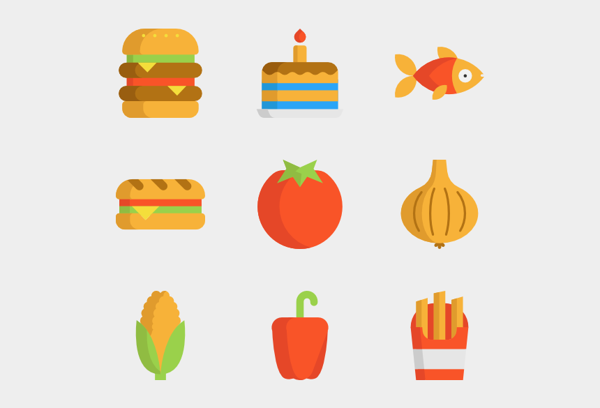 fruits and vegetables clipart, Cartoons - Nutrition Icon Packs Vector Svg Psd Ⓒ - Food Flat Vector Png