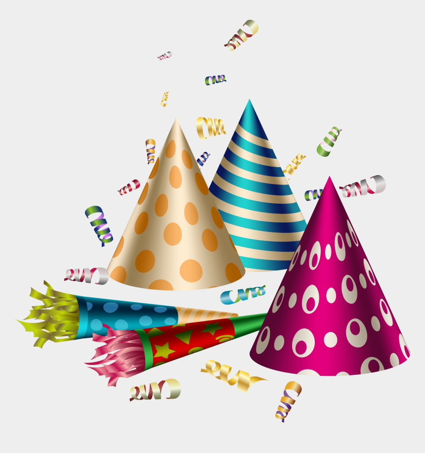 party hat clipart, Cartoons - Birthday Clip Art Transprent Png Free Download Ⓒ - Party Hats Transparent Background