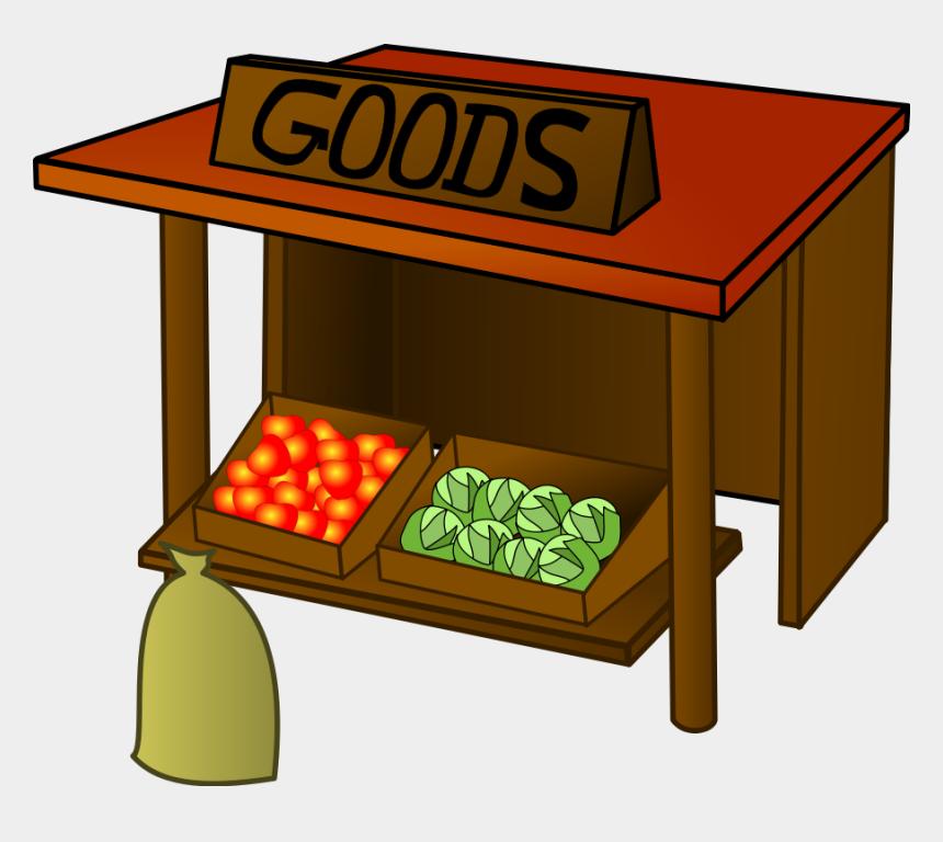 fruits and vegetables clipart, Cartoons - Market Goods Stall Fruit Veg Wood Vegetable - Marketplace Clip Art