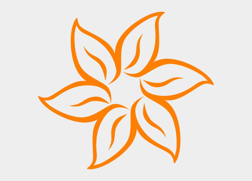 blume clipart, Cartoons - Blume Orange Clipart - Drawing Simple Flower Design