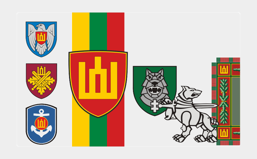 auge clipart, Cartoons - Lithuanian Military Insignia - Crest