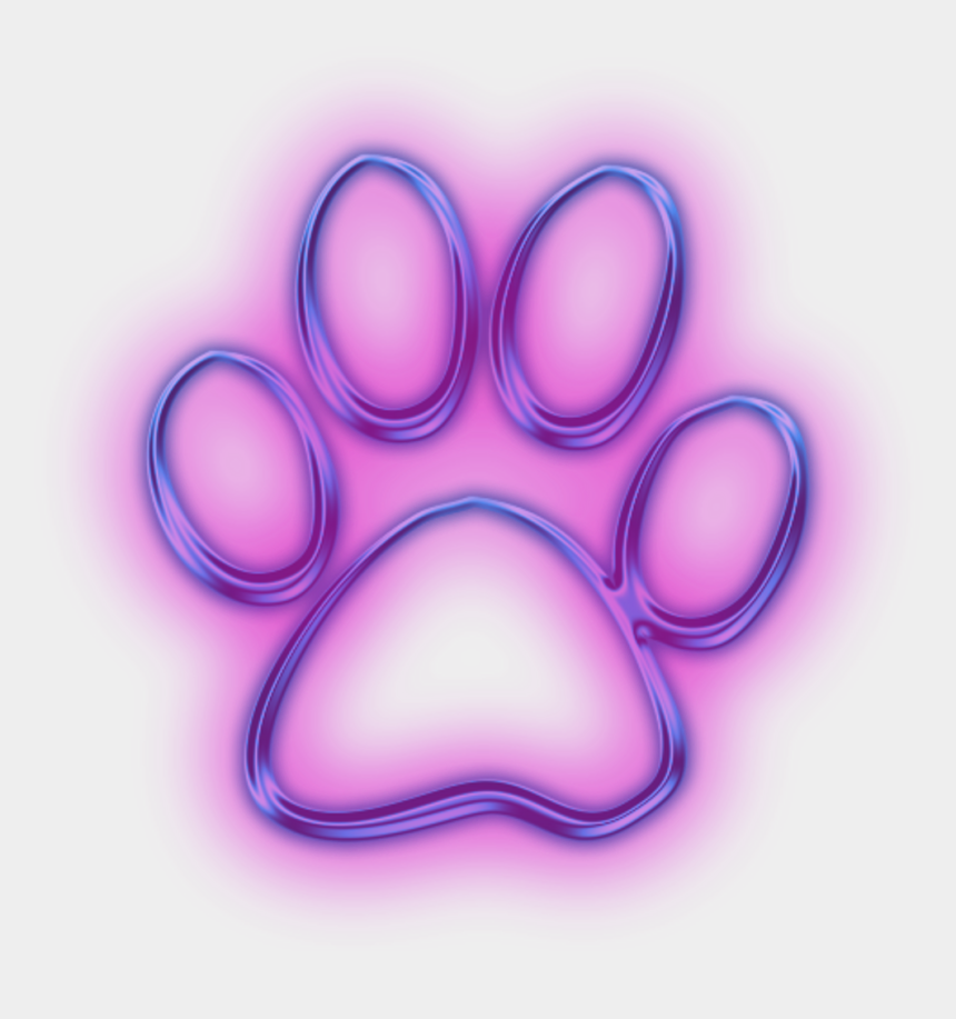 dog paw clipart, Cartoons - Neon Clipart Dog Paw - Neon Dog Paw