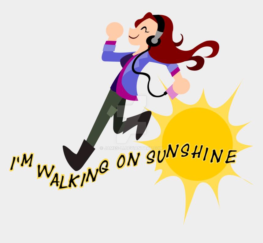 walk clipart, Cartoons - Charlie Bradbury I M On Sunshine By Ⓒ - Walking In Sunshine Png