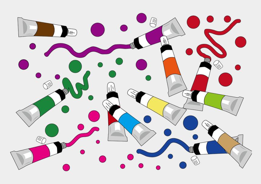 school supplies clipart, Cartoons - Paint, School Supplies - 用具 卡通