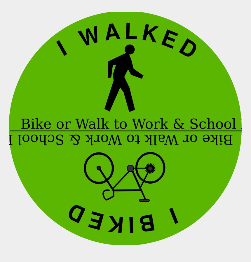 walk clipart, Cartoons - Walk And Bike To Work