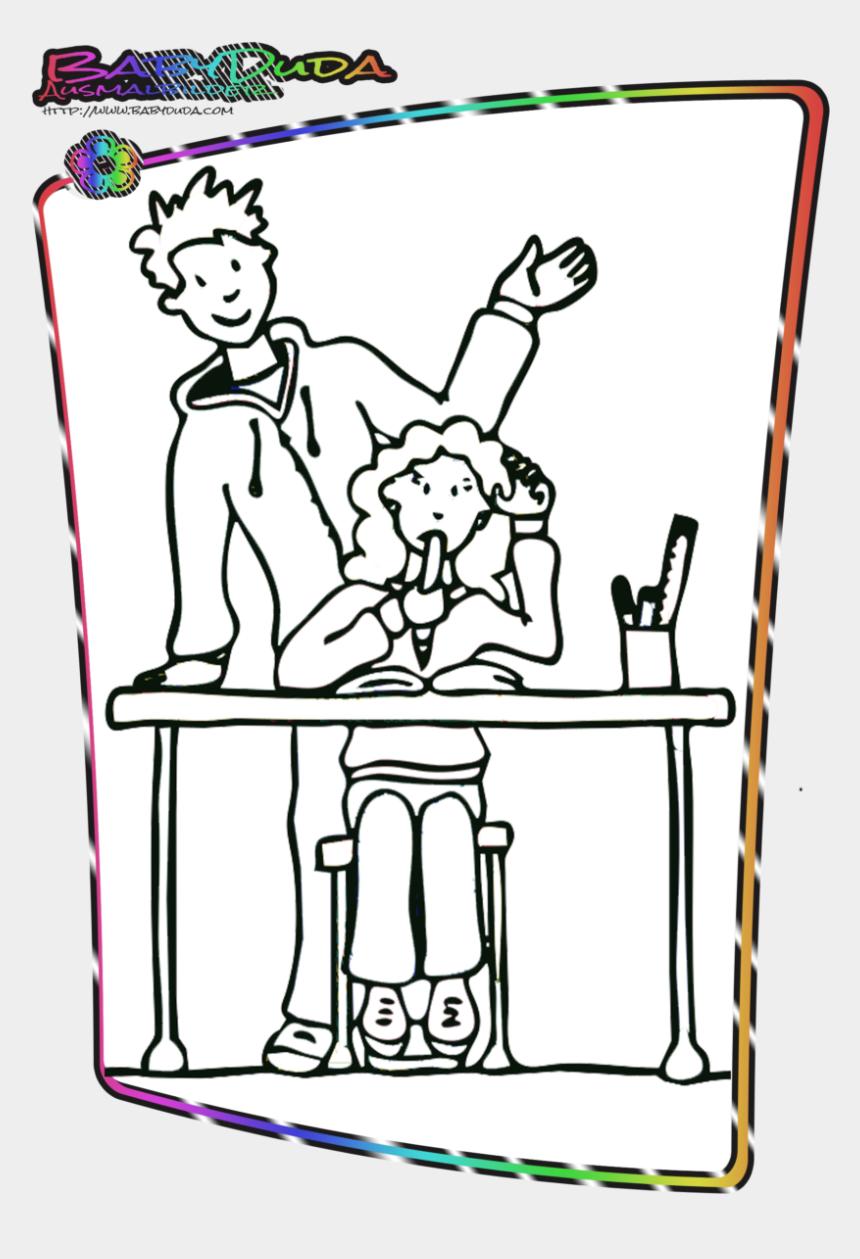 Ausmalbild Schulkinder Und Malvorlage Schulanfang Clipart