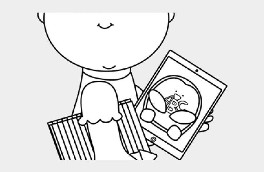 school supplies clipart, Cartoons - Ipad Clipart Kid School Supply - Cartoon