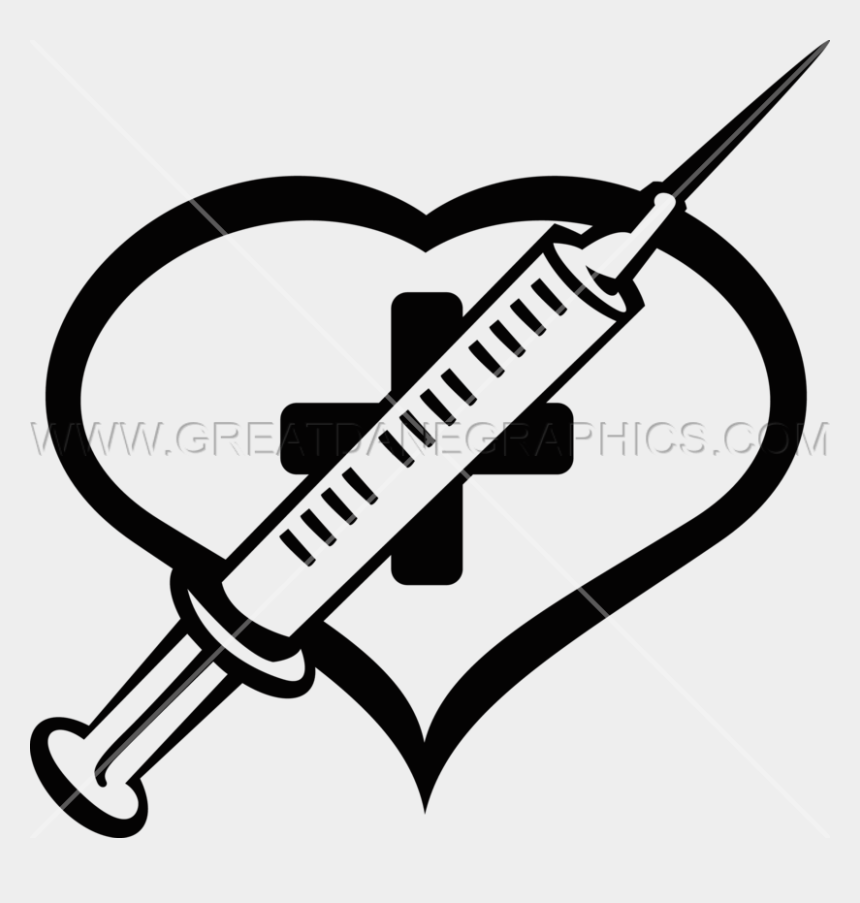 needle clipart, Cartoons - Heart Production Ready Artwork For T Shirt Ⓒ - Heart With Needle