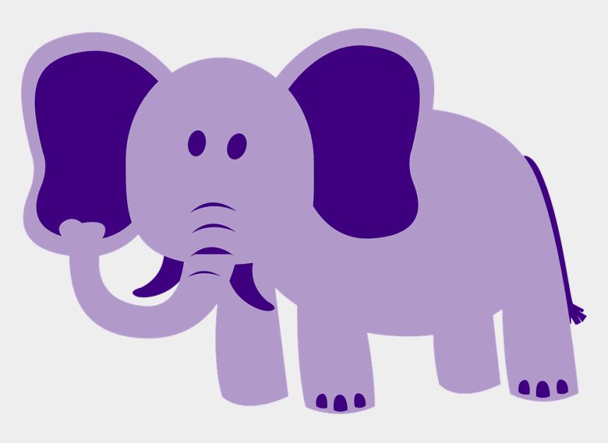 zoo animals clipart, Cartoons - Elephant Large Animal African Wildlife Zoo Nature - Elephant Purple