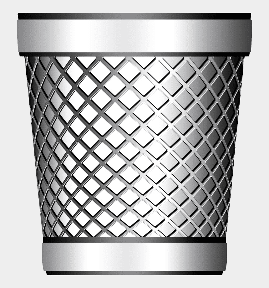trash can clipart, Cartoons - Transparent Background Trash Can Png