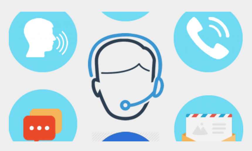 mix clip art, Cartoons - Customer Support Icon Outline