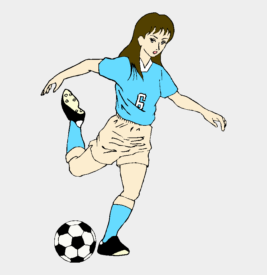 kicking clip art, Cartoons - Kicking Soccer Ball Clipart