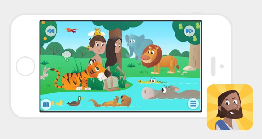 sunday school kids clip art, Cartoons - Bible App For Kids Storybook Bible