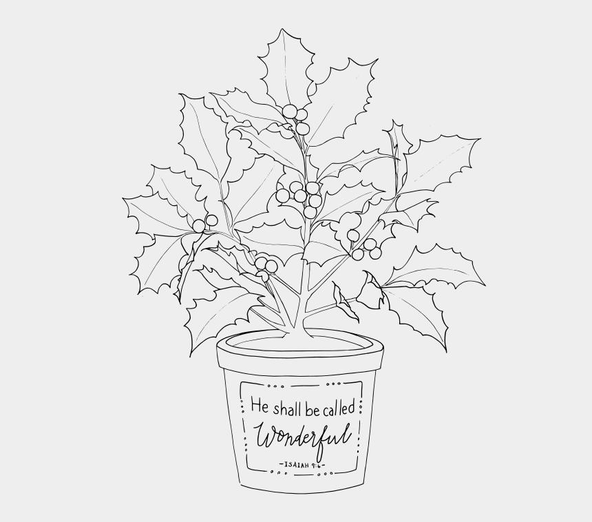 christmas poinsettias clip art, Cartoons - Flowerpot