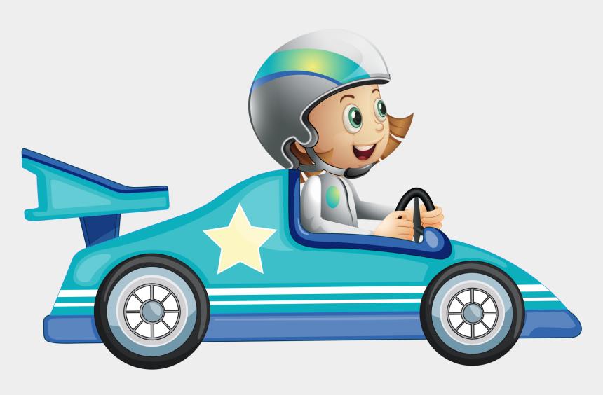 go kart clip art, Cartoons - Blue Racing Car Clipart