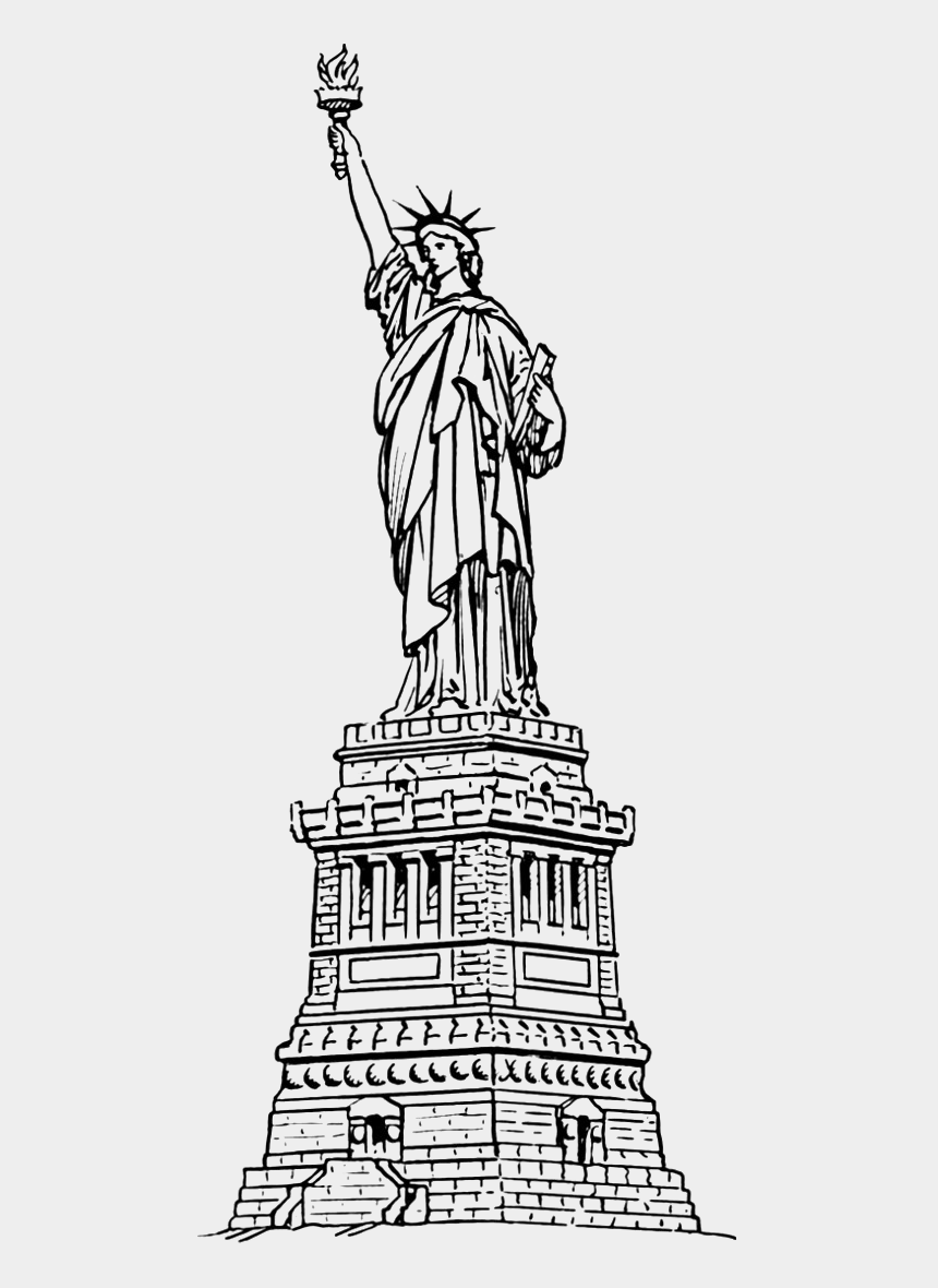 new york clipart black and white, Cartoons - Statue Of Liberty For Coloring