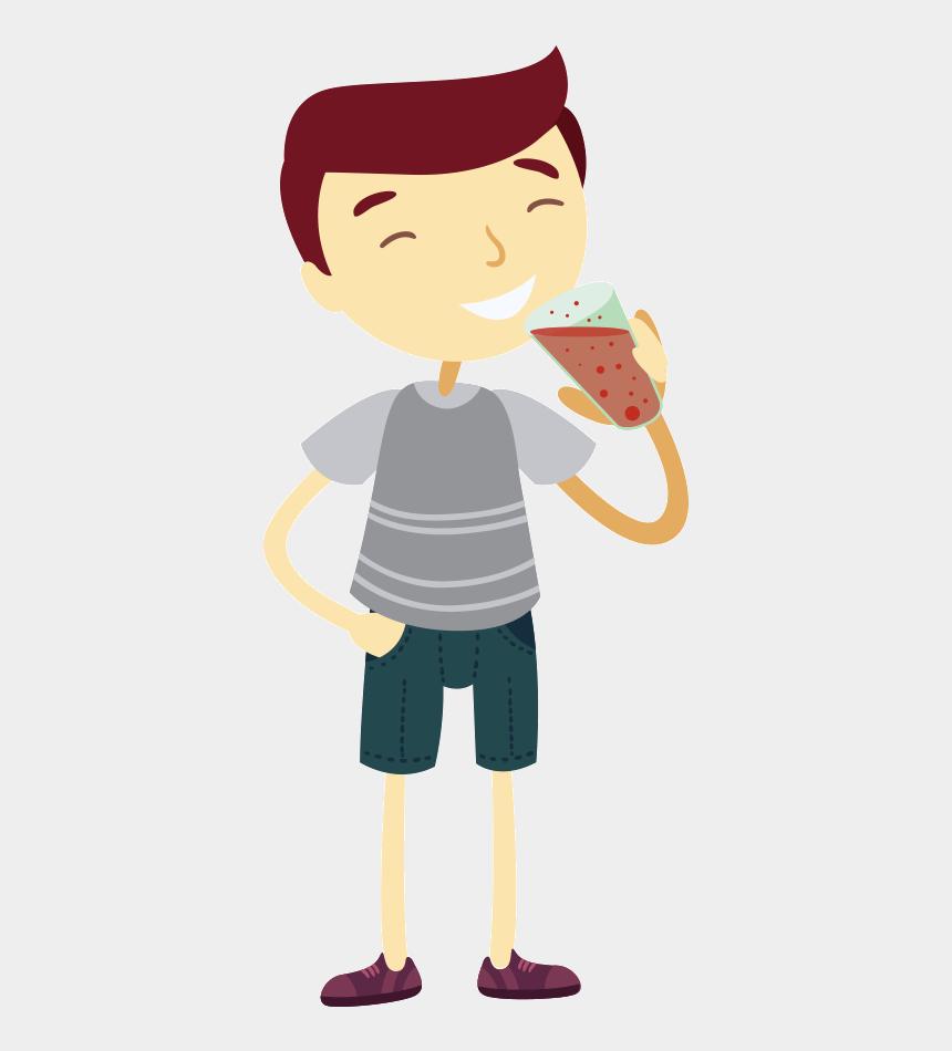boy drinking water clipart, Cartoons - 喝 水 卡通 圖