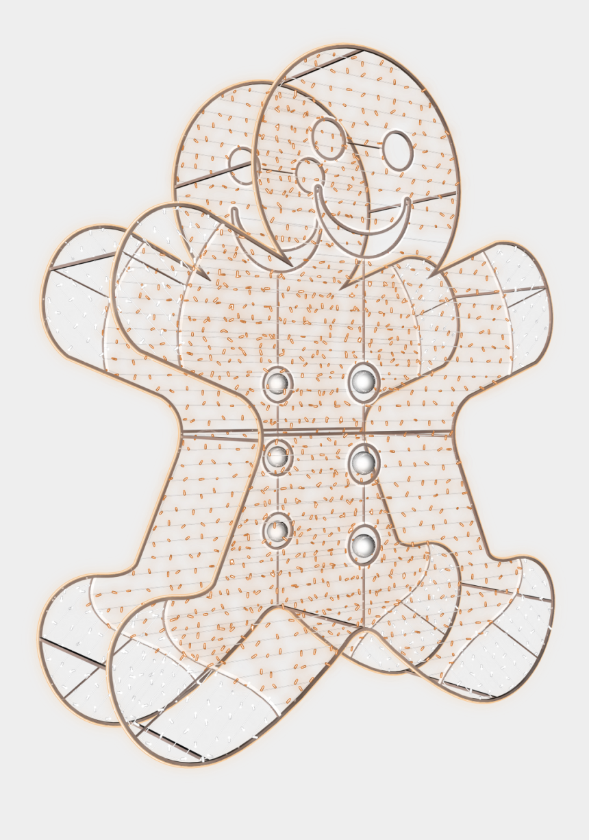 gingerbread man outline clipart, Cartoons - Drawing