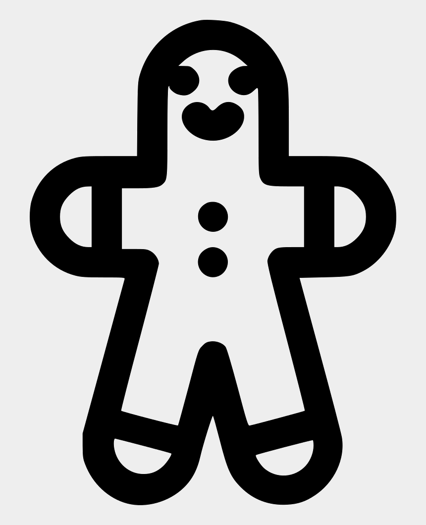 gingerbread man outline clipart, Cartoons - イラスト