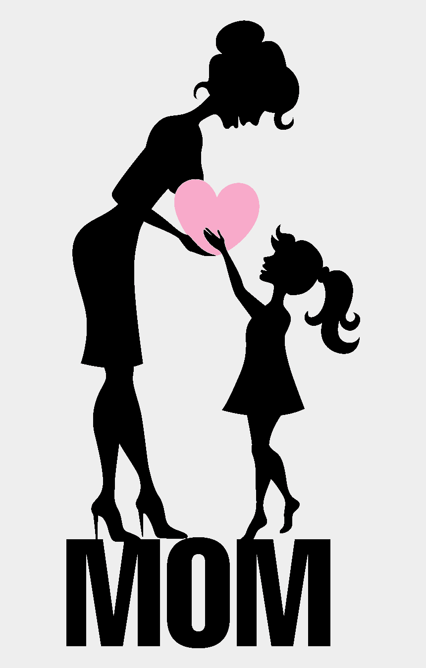 mother s day black and white clipart, Cartoons - Transparent Background Happy Mothers Day Png