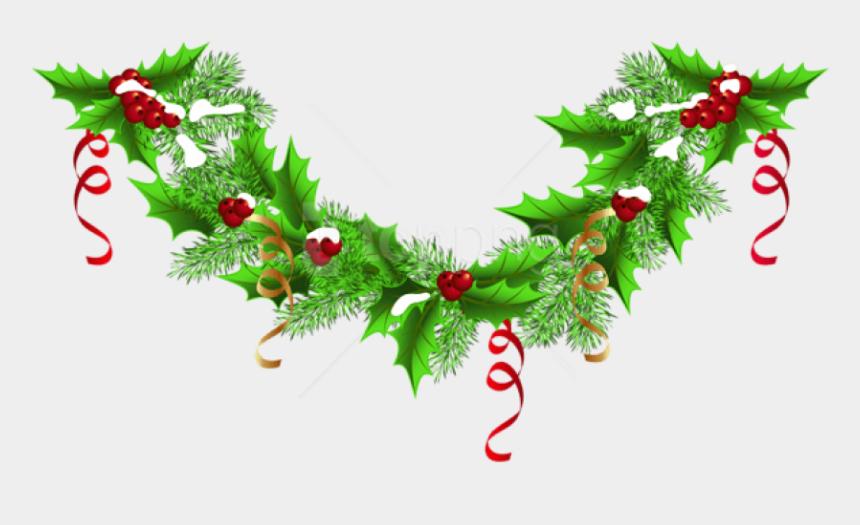 christmas bough clipart, Cartoons - Christmas Garland Clipart Vector