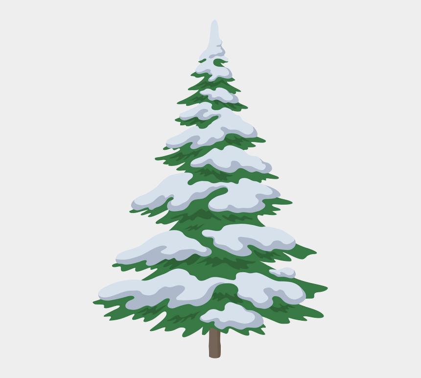 christmas bough clipart, Cartoons - Snow On Christmas Trees