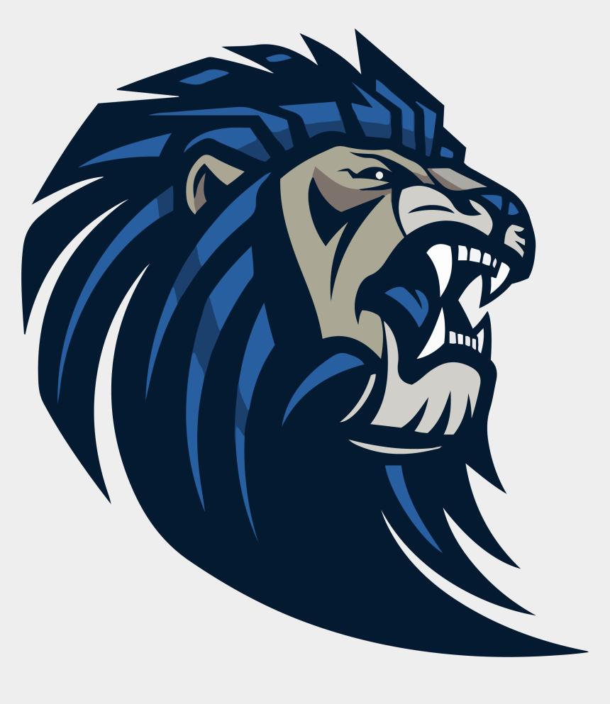 middle school student clipart, Cartoons - Transparent Background Lion Logo Png