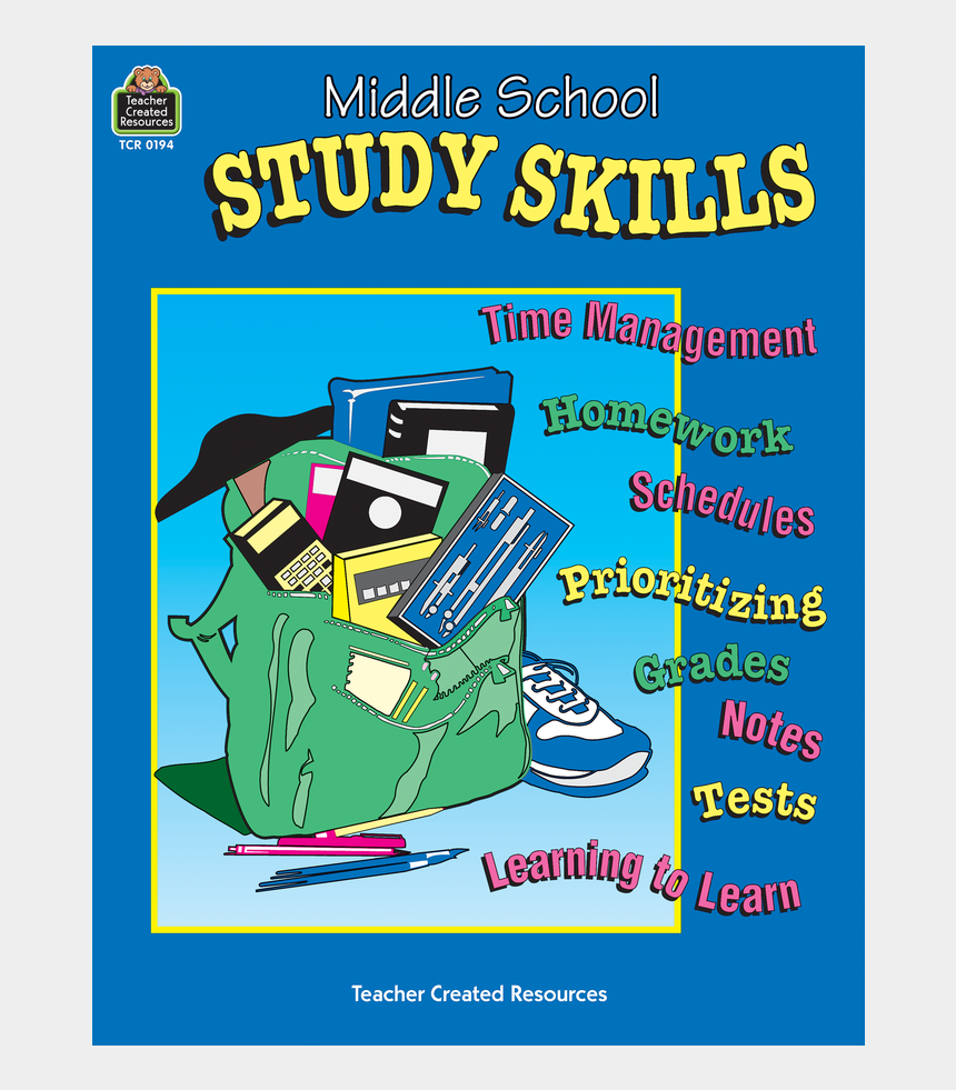 middle school student clipart, Cartoons - Poster On Study Skills