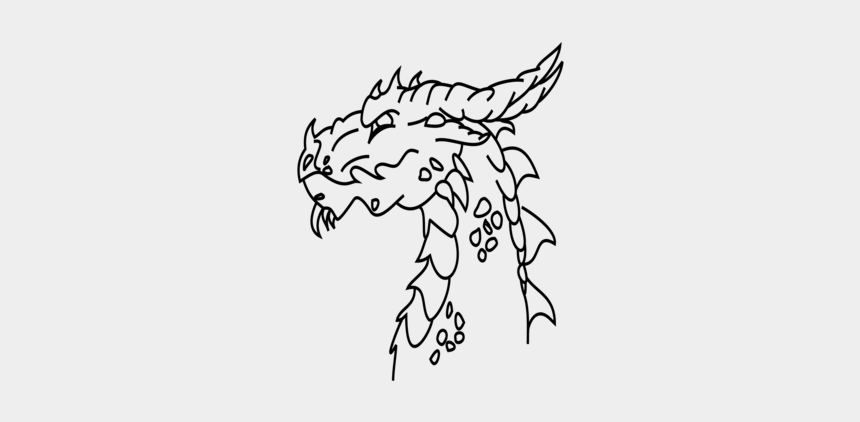 cat head clipart black and white, Cartoons - Dragon Head Png Gif