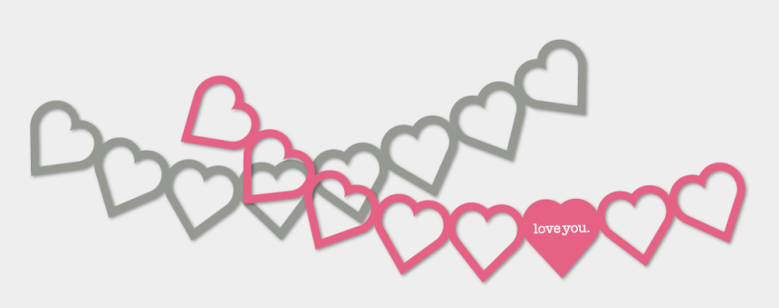 valentine s day banner clip art, Cartoons - Heart Banner Png